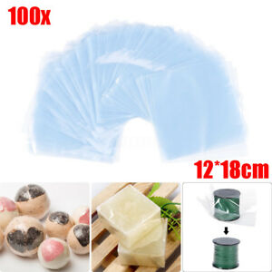 Lot 1000pcs 12x18cm Pvc Heat Shrink Wrap Bags Film Clear Flat Seal Packing