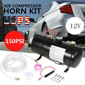 12v150psi Dc Truck Pickup On Board Air Compressor Air Horn