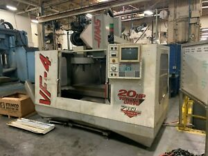 Haas Vf 4 Vmc 1997 Brushless Servos 20 hp Vector Drive