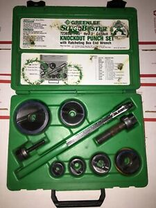 Greenlee 7238sb Slugbuster Knockout Punch Set W Ratchet Wrench Driver
