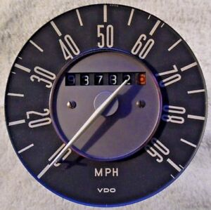 Vintage 1970s Volkswagen Bus Type Ii Vdo Speedometer Rare Excellent Condition
