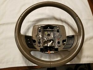 2005 2011 Mercury Grand Marquis Mdk Parchment Leather Steering Wheel W Cruise 1