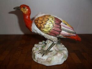 Antique French Porcelain Rue Fontaine Au Roi Bird Figurine Paris France Marked