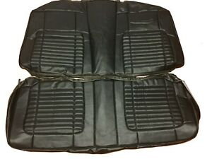 1970 Dodge Charger Back Seat Covers Black Rear Vinyl W Basketweave Inserts