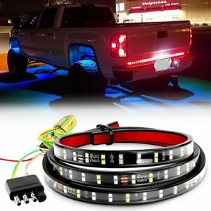 2 Row 60 Led Tailgate Light Bar Strip For Ford Chevy Gmc Ram Nissan Dodge Truck