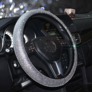 Crystal Diamond Steering Cover 38cm Universal For Steering Wheel For Women Girl