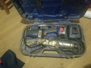 Lincoln 1400 Power Luber Grease Gun 14 4 Volts With 2 Battery Charger Case Book