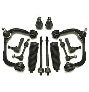 12 Pc Suspension Kit For Ford F 150 2004 2005 4wd Upper Control Arms Ball Joints