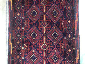 2x9 Blue Hand Knotted Persian Runner Rug Wool Antique Serapi Caucasian 2x8 Ft
