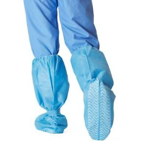 Disposable Shoe boot Covers Nonskid Medical Booties Knee Hgt Size Xl Blue