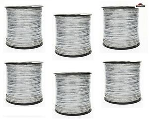 Shock 656 ft Electric Fence Poly Wire Spool 6 Spools New