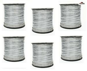 6 Electric Fence Wire Polywire New