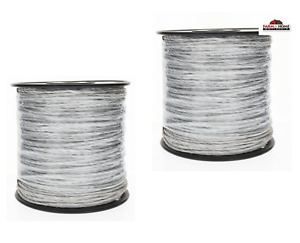 Electric Fence Wire Polywire 656 Ft 2 Spools New