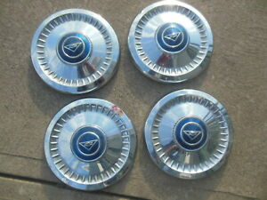 Set Of 4 Chevy Corvair Dog Dish Caps Hubcaps Center 1962 1963 1964 Poverty Gm