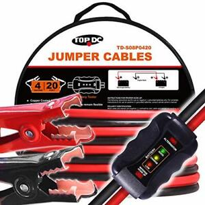 Topdc Smart Jumper Cables 4 Gauge 20 Feet Heavy Duty Booster Cables