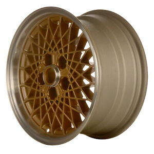 16 X 8 Diamond Spoke Refurbished Oem Pontiac Alloy Wheel Gold 01660