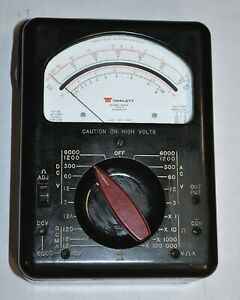 Triplett Model 630 a Multimeter vom Vintage Industrial Surplus Good
