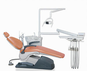 Computer Controlled Dental Unit Chair Hard Leather With Stool 0 2mpa 04mpa