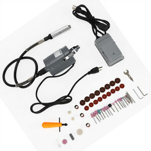 Electric Flexible Shaft Die Grinder Rotary Tool Variable Speed Foot Pedal 55pc
