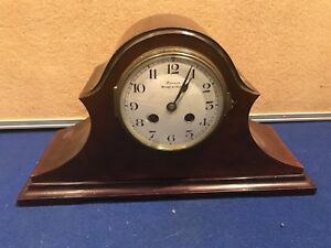 Victorian Mahogany Cased With French Movement Clock
