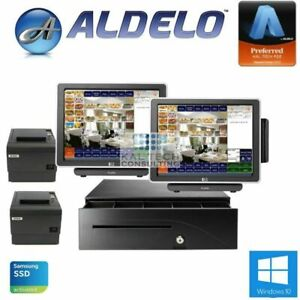 Aldelo 2 Station Pro Restaurant Full Serivce Pos System Free Support 3yr Warty