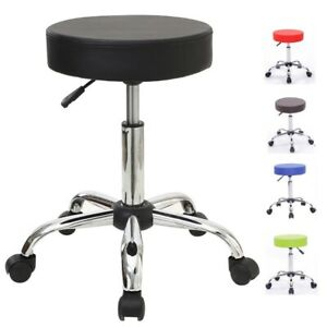 Stool Medical Doctor Office Furniture Lab Black Adjustable Dental Exam Chair New