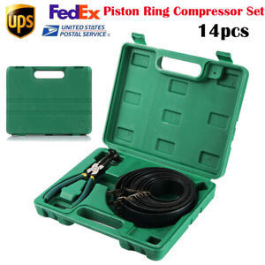 14pcs Piston Ring Compressor Kit Practical Carbon Steel Car Engine For Truck