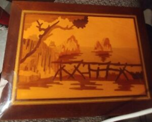 1998 Wood Marquetry Plaque Picture 9 Isle Capri Exotic Inlay