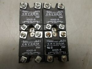 4 Crydom Solid State Relay A2425 b 240 Vac 25amp