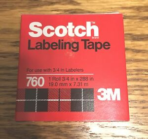 Scotch 3m Brand 760 Labeling Embossing Tape 3 4 X 288 Color Is Black 8 Pack