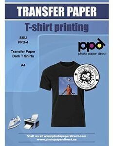 Ppd Inkjet Iron on Dark T Shirt Transfers Paper Ltr 8 5x11 Pack Of 10 Sheets p