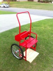 New Red Gas Steel Welding Cart Hauls Welding Tanks cylinders Torch Equipment