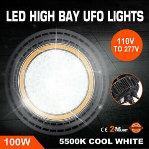 100w Ufo Led High Bay Light Waterproof Eco efficient 3 95kg Monochrome
