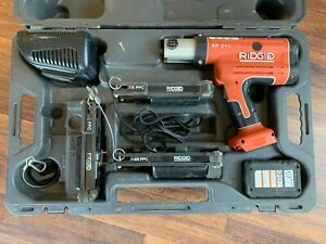 Ridgid Rp210 Press Frame Kit With 1 2 dm Nm 7 8 1 5 8 Dies used