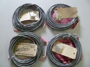 Lot Of Four New Whelen Remote Power Strobe Extension 20 Foot Cables G168
