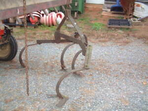 Heavy Duty Spring All Purpose Plow 3 Point Hitch 4 Cultivators 5 Ft Wide