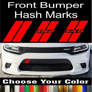 Custom Hash Marks Front Bumper Decal Fits Dodge Charger