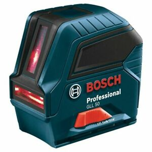 Bosch Factory Reconditioned 50 Ft Self Leveling Cross Line Laser Level