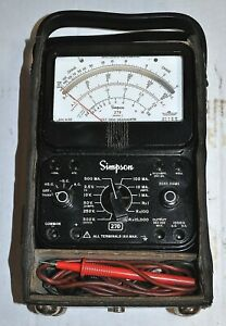 Simpson Model 270 Series 5 Multimeter W Probes Vintage Industrial Surplus Good