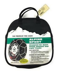 Laclede Alpine Sport 2327 Quick 17 18 20 22 Cable Tire Snow Chains Diamond
