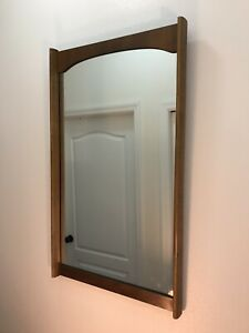 Drexel Parallel Mid Century Modern Walnut Wall Mirror
