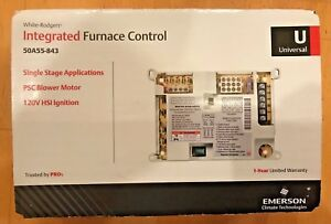 White Rodgers 50a55 843 Universal Ignition Furnace Control New In Box