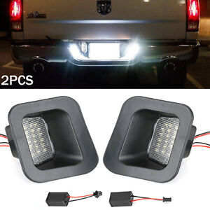 For 2003 18 Dodge Ram 1500 2500 3500 License Plate Rear Bumper Lights Led Lamps