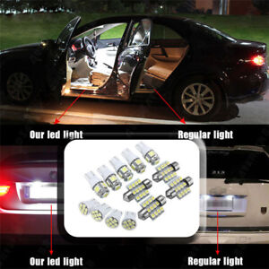 13pcs Car White Led Lights Kit For Stock Interior Dome License Plate Lamps