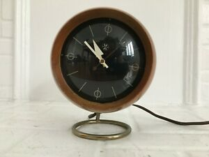 Rare Vintage 1950 George Nelson Howard Miller Chronopack Table Clock Model 4765