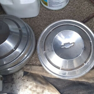 Vintage Chevy Dog Dish Hubcaps