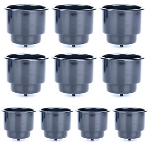 10 Pcs Marine Boat Rv Car Plastic Cup Drink Can Holder Yacht Bottle Insert Black