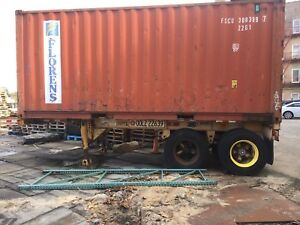 20 Shipping Container With Chassis