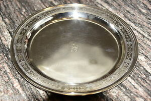 Tiffany Sterling Silver 13 Large Serving Tray Urn Floral Pattern Solid 32 Ozs