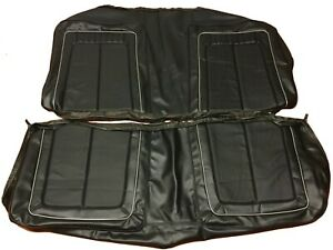 1970 Plymouth Roadrunner Seat Covers Coupe Rear Upholstery Skins Black